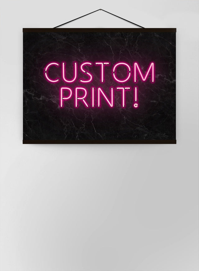 Custom Neon Sign Landscape Black Marble Canvas