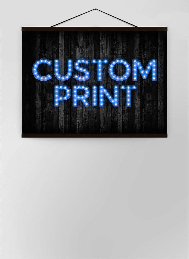 Custom Bulb Letters Blue Canvas