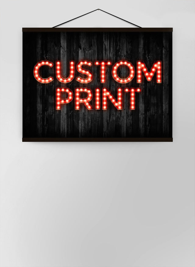 Custom Bulb Letters Red Canvas