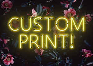 Custom Yellow Neon Sign Floral Background Canvas