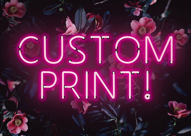 Custom Pink Neon Sign Floral Background Canvas