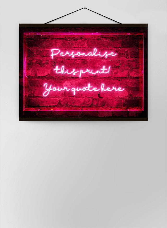 Custom Handwritten Neon Sign Canvas