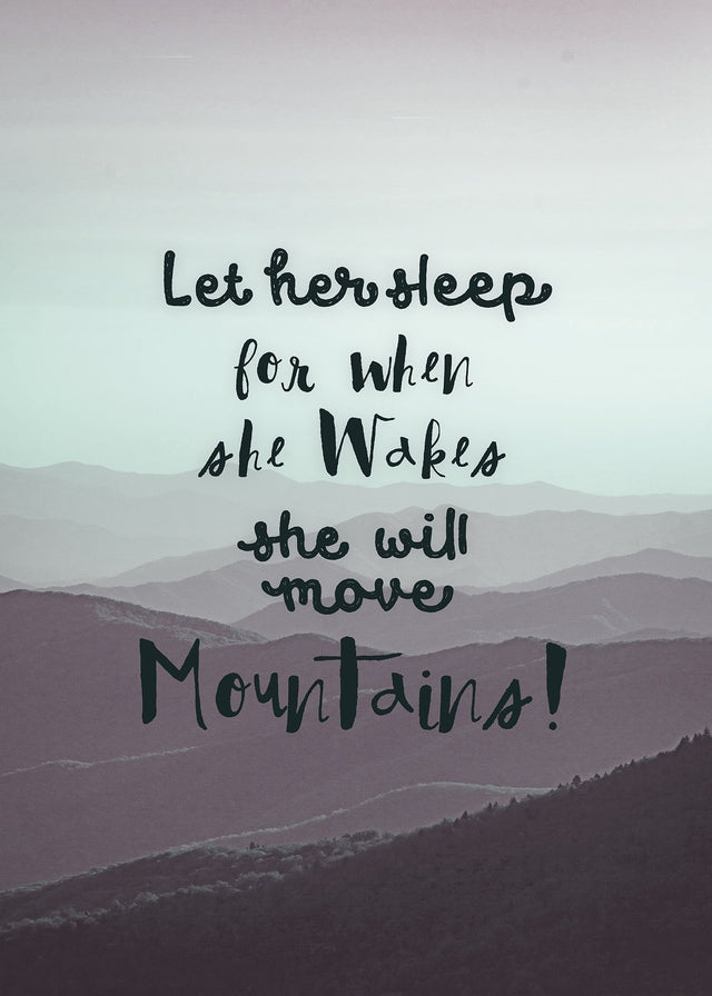Let Her Sleep Mountains Quote Canvas