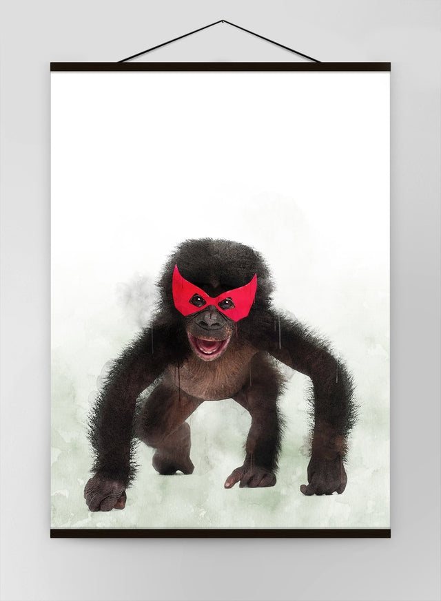 Super Chimp Little Heroes Animal Canvas