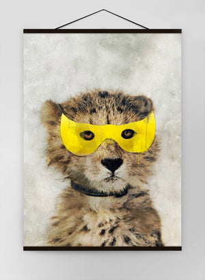 Super Leopard Little Heroes Animal 1 Canvas