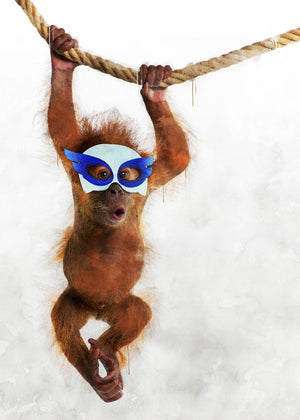 Super Orangutan Little Heroes Animal Canvas