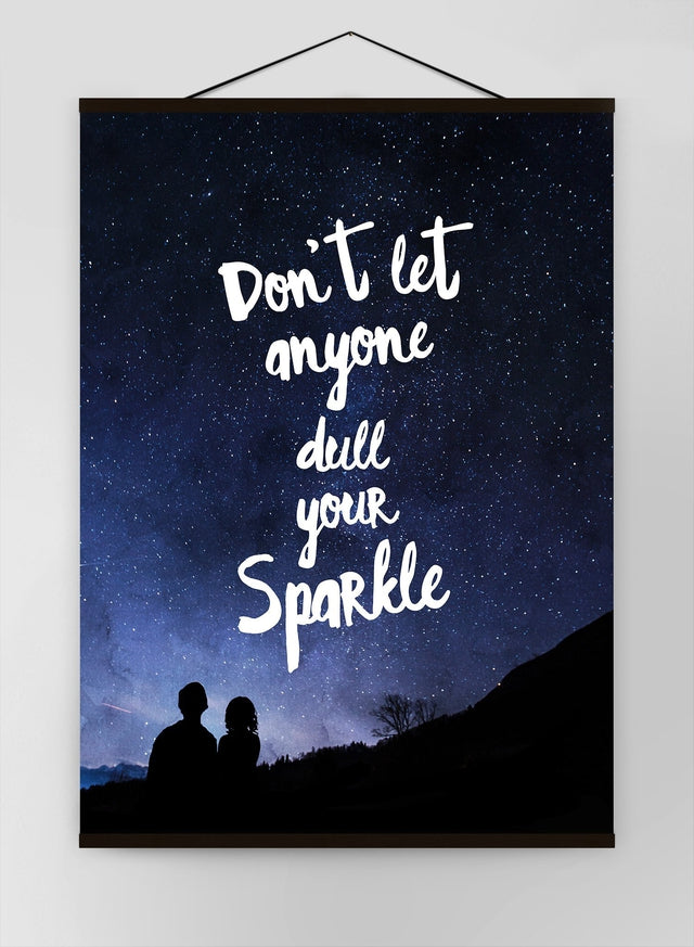 Sparkle Typography Sky Quote Canvas