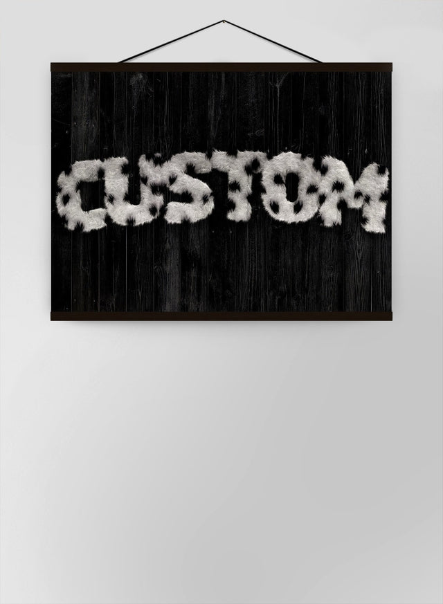 Dalmation Fur Style Wood Personalised Name Canvas
