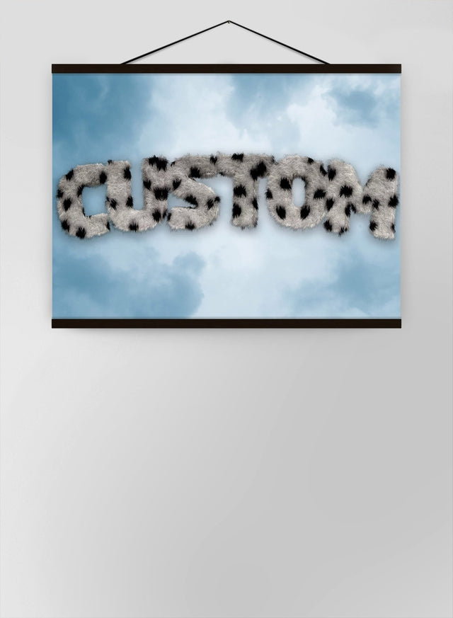 Dalmation Fur Style Blue Sky Personalised Name Canvas