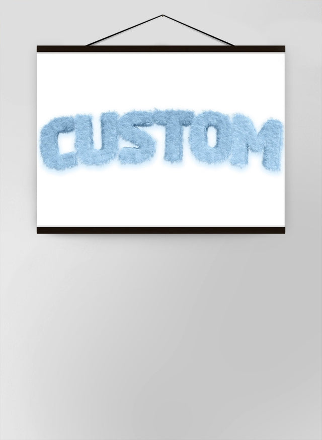 Pastel Blue Fur Style Personalised Name Canvas
