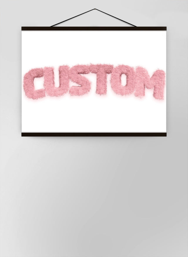 Pastel Pink Fur Style Personalised Name Canvas