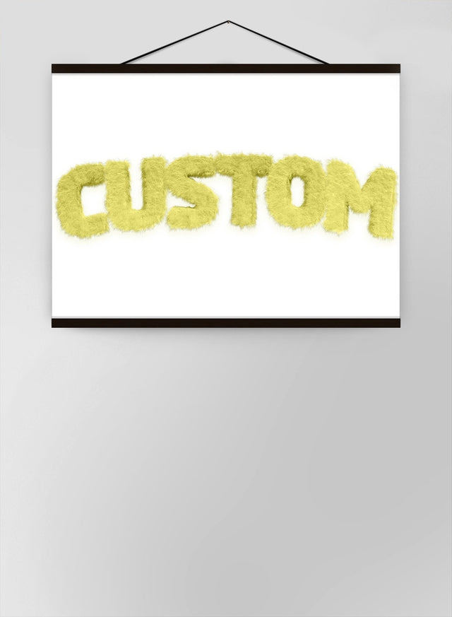 Pastel Yellow Fur Style Personalised Name Canvas