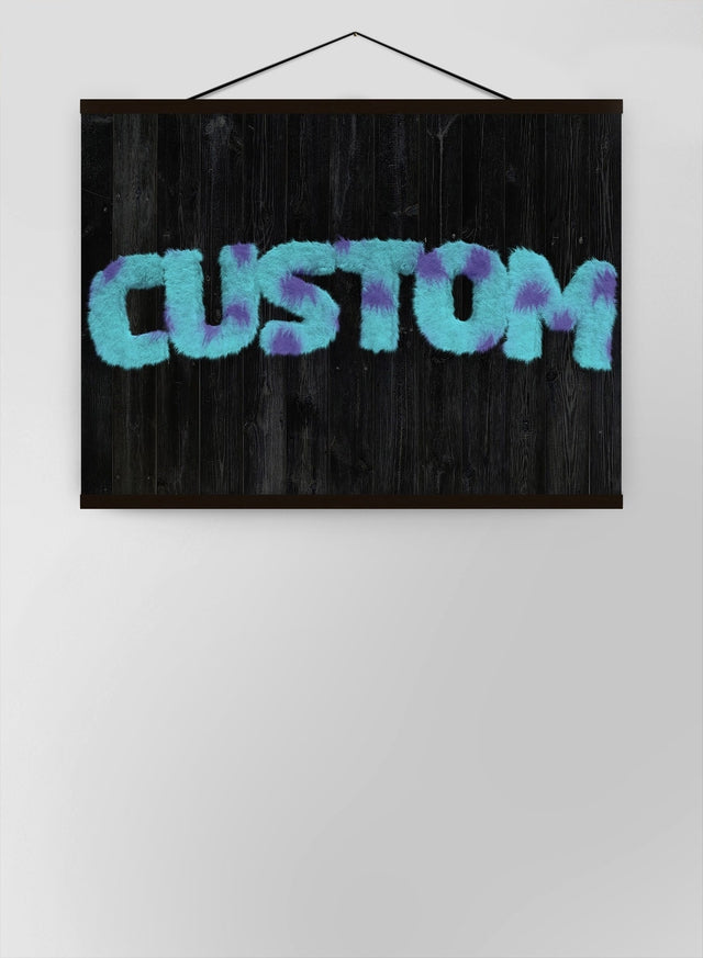 Sully Monster Fur Blackwood Personalised Name Canvas