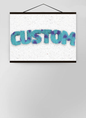 Sully Monster Fur Personalised Name Canvas