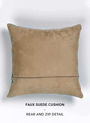Custom Floral Single Letter White Cushion
