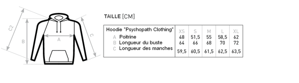 Guide de Taille Psychopath Clothing