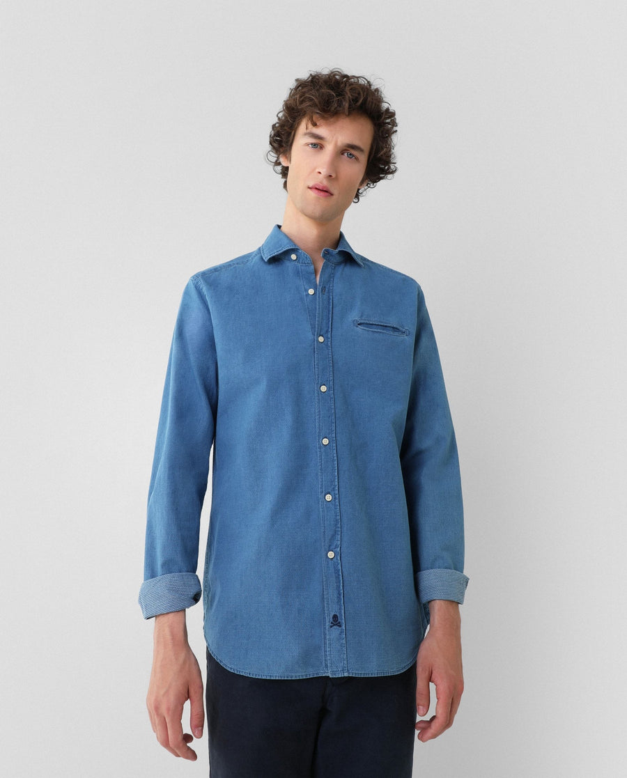 CAMISA DENIM KONIKA REGULAR FIT - Scalpers España