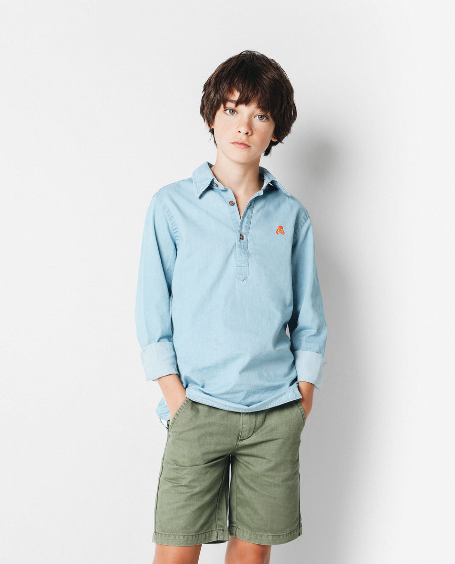 POLERA DENIM SHIRT KIDS