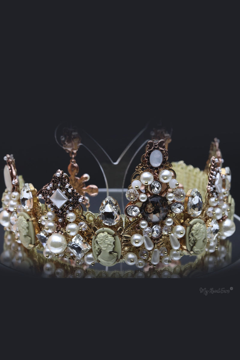 Queen Simone- exquisite bridal tiara and earring set - My Roial Ears LTD