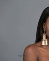 Hippolyta- gold plated tassel statement metal drop earrings - My Roial Ears LTD