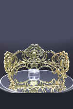 Queen Indira- purple victorian inspired crystal tiara - My Roial Ears LTD