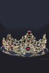 Queen Eva- royal gold red crown and earring Set - My Roial Ears LTD