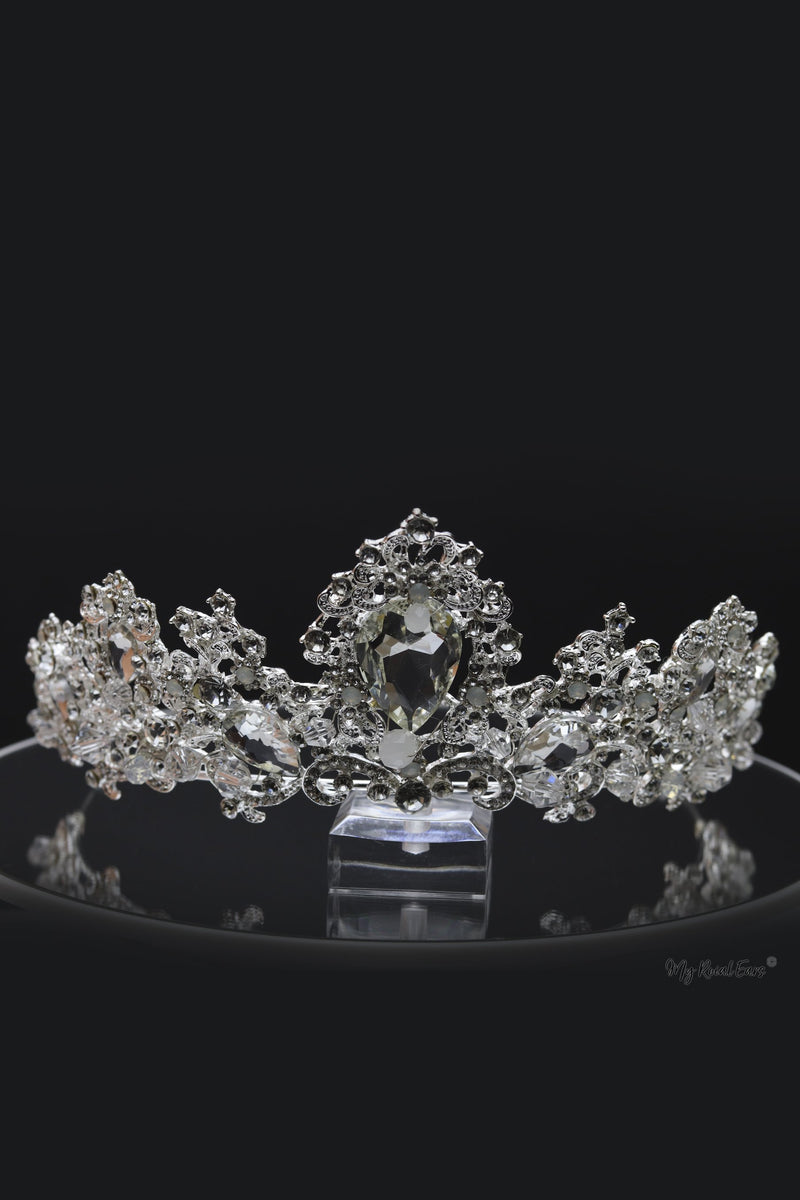 Queen Audrey-an exquisite crystal stone tiara - My Roial Ears LTD
