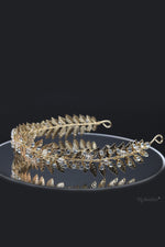 Queen Jean- golden crystal leaf headband - My Roial Ears LTD