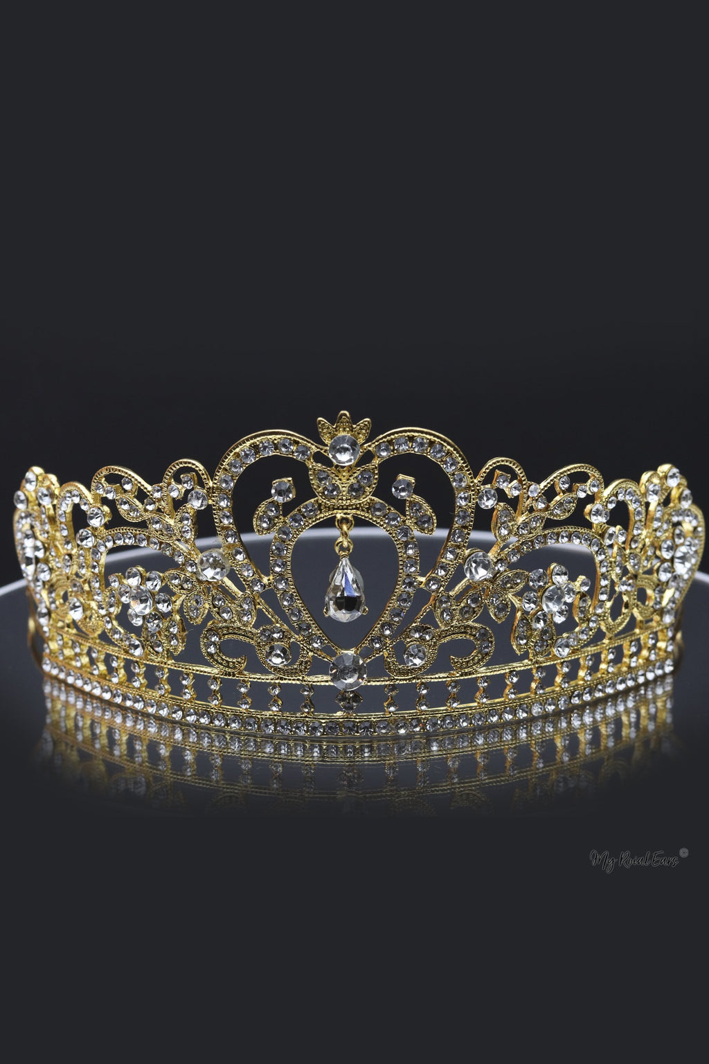 Queen Shirin- sophisticated dangling tiara - My Roial Ears LTD