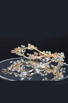 Queen Lizzie- gold handmade bridal headpiece - My Roial Ears LTD