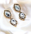 Q.KATE-exquisite antique gold plated crystal earrings - My Roial Ears LTD