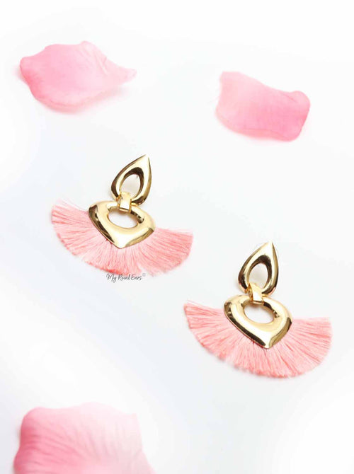 Cosmos-cute pink tassel earrings - My Roial Ears LTD