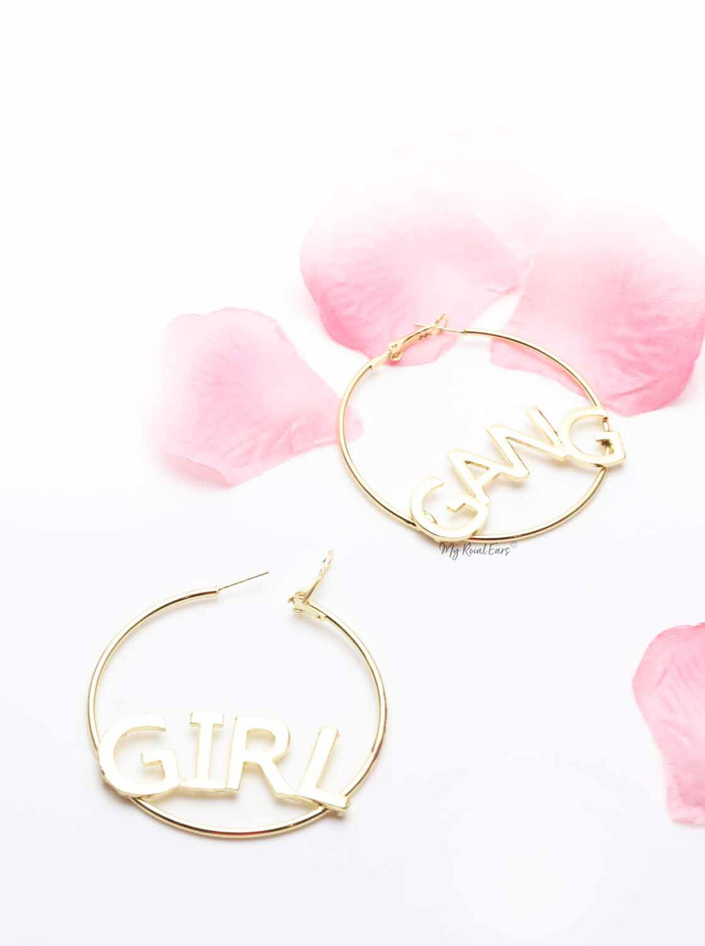 Blue Jacaranda-gang girl hoop earrings - My Roial Ears LTD