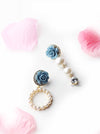 Freesia- floral pearl drop long and small earrings - My Roial Ears LTD
