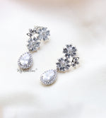 Q.Camilla- sterling silver bridal stud earrings - My Roial Ears LTD