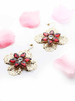 Orchid -floral lace statement earrings - My Roial Ears LTD