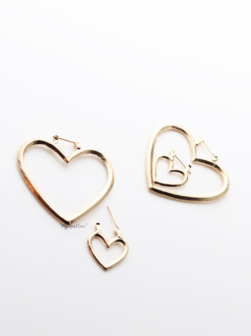 Thistle- Two Heart Shaped Hoop Earrings - My Roial Ears LTD