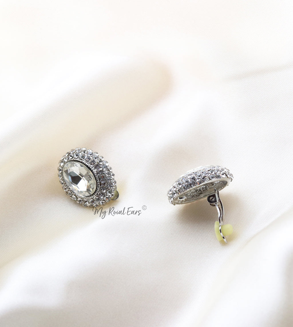 Q.Merida-lavish statement clip-on bridal stud earrings - My Roial Ears LTD