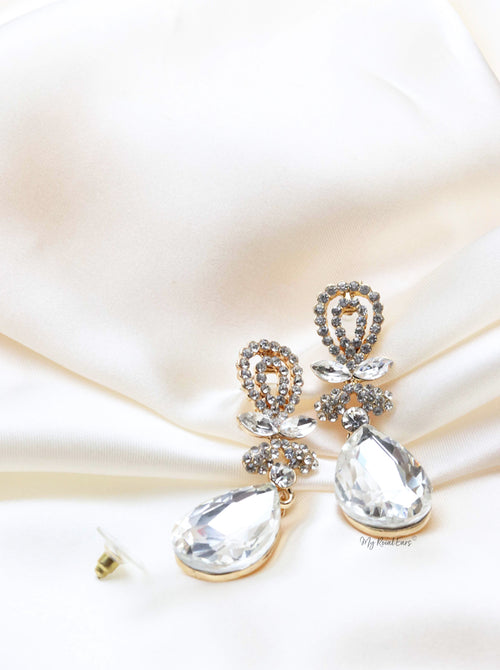 Q.Bridget-crystal stud contemporary bridal earrings