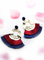 Lantana- Extravagant Tassel Hoop Earrings - My Roial Ears LTD
