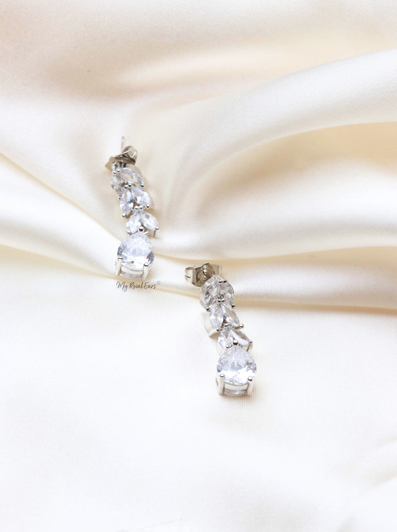 Q.ADRIENNE-charming floral drop bridal earrings