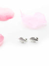 Axillary Silver- leaf stud earrings - My Roial Ears LTD