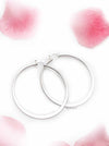 Perennials- traditional silver hoop earrings - My Roial Ears LTD