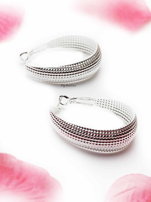 Annual- shell shaped silver earrings - My Roial Ears LTD