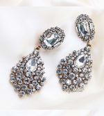 Q.JANE Gold- luxury bridal baroque vintage statement earrings - My Roial Ears LTD
