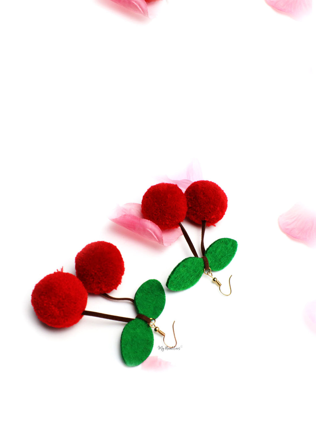 Iris- cherry fruit shape drop earrings