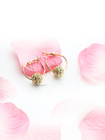 Bottlebrush Gold Hoops - My Roial Ears LTD