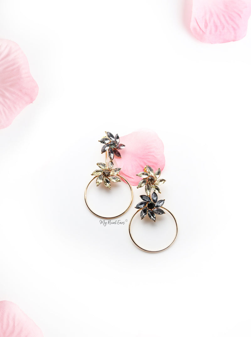 Daisy- two in one Crystal Flower Shaped Earring - My Roial Ears LTD
