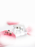 Edelweiss Silver-Shell Pearl Flower Stud - My Roial Ears LTD
