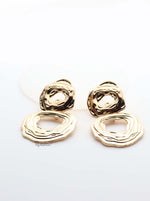 Clio Silver-lined detailed double hoop drop earrings - My Roial Ears LTD